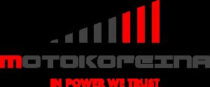 Motokofeina logo_czcionka gunship biale
